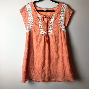 Umgee Orange Baby Doll Mini Dress